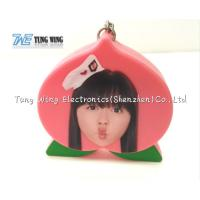 Wholesale Cute Pink Peach Shaped Musical Keyring Custom Talking Keychain from china suppliers
