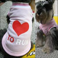 Wholesale White and Pink Cute Funny Personalized Dog T Shirt with 100% Cotton from china suppliers