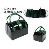Wholesale PU Leather Jewelry Box For Jewelry Packaging With Handle from china suppliers