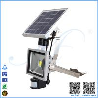 Wholesale multi-functional 5w solar led floodlight PIR sensor anti-theft alarm device remote control from china suppliers