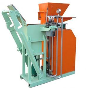Wholesale Hydraulic Interlocking Small Clay Brick Making Machine , Automatic Brick Making Machine 1500(L)×600(W)×1400(H)mm from china suppliers