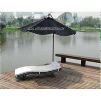 Wholesale Comfortable Folding Outdoor Patio Sun Loungers With White Cushion In Lake from china suppliers
