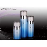 Wholesale Cover A Transparent Plastic Airless Bottle Blue Shape Airless Cosmetic Bottles from china suppliers