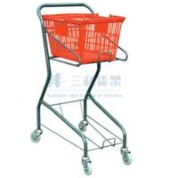 Wholesale Clear Lacquer 60L Wheeled Supermaket Shopping Carts Trolley for Kids from china suppliers