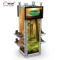 Wholesale Clothing Store Fixtures 4-way Footwear Shop Display Stand Metal Shoes Display from china suppliers