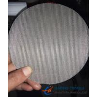 Wholesale Micronic Filter Discs, Stainless Steel 304/ 316, Dutch Weave Wire Mesh from china suppliers