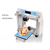 Wholesale White Digital DIY 3D Printers , FDM 1.75mm ABS Filament 3D Printer Machine from china suppliers