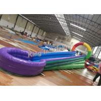 Quality Colorful U Shaped Kids Water Slide PVC Tarpaulin For Playground / Amusement Park for sale