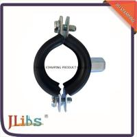 Wholesale Zinc Plated Cast Iron Pipe Clamps With Rubber And M8 / M10 Nut And Plastic Anchor from china suppliers
