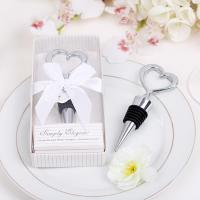 Wholesale Wedding Gifts  Heart Design Metal Bottle Stopper Favors from china suppliers