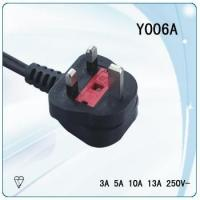 Buy cheap 10A fuse plug non-rewirable uk power cord with Tinned and Stripped Ends from wholesalers