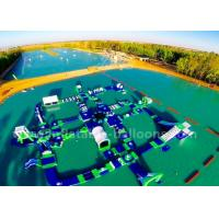 Wholesale Commercial Blue Inflatable Water Parks / Inflatable Floating Sea Park For Summer Game from china suppliers