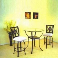 Wholesale Dining Set with Ordinary Clear Glass and Handcraft Paint from china suppliers