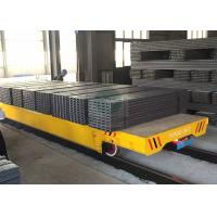 Wholesale 50T Heavy duty platform trolley on rails for forged plant handling from china suppliers
