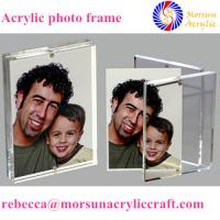 Wholesale Transparent double side customized acrylic magnetic photo frame stand from china suppliers