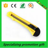 Wholesale Stainless Steel Art Sliding Folding Utility Cutter Knife Yellow from china suppliers
