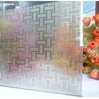 Wholesale Sinoy Custom Acid Etched Glass Windows , Frosted ISO Frameless Etched Glass from china suppliers