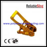 Wholesale Ratchet Tie Down Strap Buckle Lashing Tensioner 5T 50mm with Yellow Handle from china suppliers