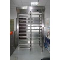 Buy cheap Emergency Exit  Function  Brushed Industrial Turnstile RFID Card Reader Full Height Turnstile from wholesalers