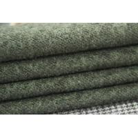 Wholesale Green Loop Textile Heavyweight Wool Twill Fabric For Winter Clothing from china suppliers