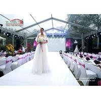 Wholesale Clear Span Outdoor Party Tents For Wedding Show With Clear PVC Fabric UV - Protection from china suppliers