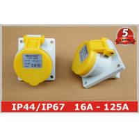 Wholesale Angled Panel Mounted Industrial Power Socket switch 110V 16A IP44 3 Pin For Marine from china suppliers