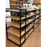 Quality Supermarket Industrial Pallet Racks Metal / Wood Display Shelving Double Sided for sale