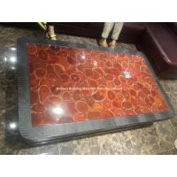 Wholesale Semiprecious Stone Red Agate Inlayed Tabletops from china suppliers