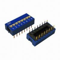 China Dip Switch Connectors with 24V DC Rated Voltage on sale