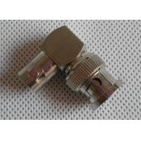 Wholesale Copper Nickel Plated CCTV BNC Connector , Right Angle Male To Female Connector from china suppliers