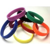 Wholesale Color Filled silicone Wristband and Printed Wrist bands, Custom Rubber Bracelets from china suppliers