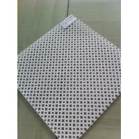 Wholesale square Punched Galvanized Perforated Metal Mesh screen for Decoration 1250mm Width from china suppliers