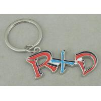 Wholesale Zinc Alloy Synthetic Enamel Promotional Keychain Die Casting Silver RXD Key Ring from china suppliers