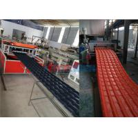 Wholesale ASA PVC Glazed Roof Tile / Roofing Sheet Forming Machine With Two Roll Calender from china suppliers