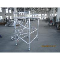 Buy cheap Helicopter maintenance aluminum scaffold Cold Formed Jointing , Light Weight Mobile Scaffold from wholesalers