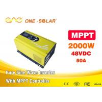 Wholesale Off Grid MPPT Solar Inverter Pure Sine Wave Dc To Ac 48vdc 220v / 230vac 2000w from china suppliers
