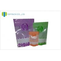 Wholesale 28g / 150g / 250g Ziplock Stand Up Pouches Plastic Customized Printed Visual Window from china suppliers