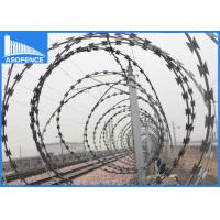 Quality BTO-22 galvanized silver razor wire / ELECTRIC RAZOR BARBED WIRE MESH for sale