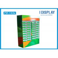 Quality Greeting Card Corrugated Cardboard Floor Display Stands 36 Cells Printing for sale