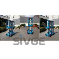 Wholesale Aluminum Hydraulic Lift Platform , Blue Dual Mast Mobile Elevated Platform from china suppliers
