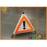 Wholesale Customized Reflective Warning Triangle Construction Folding Triangle Warning Sign from china suppliers