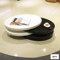 Wholesale Contemporary High Gloss Small Oval Rotatable Coffee Table Living Room Furniture from china suppliers