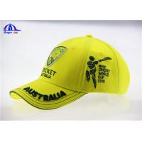 Wholesale Yellow Brushed Cotton Breathable Custom Baseball Caps with 3D Embroidery Logo from china suppliers