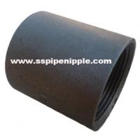 China Black Carbon Steel Coupling BSP / DIN / NPT 1/8-8 Outer Diameter on sale