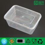 Rectangular Microwaveable disposable plastic takeaway food box 1000ml