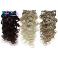 Wholesale Highlighted White / Grey 1b# Clip In Hair Extension Unprocessed Virgin Human Hair from china suppliers