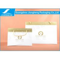 Wholesale White Brand Logo Printed Paper Bags Large With Golden Cotton Handles from china suppliers