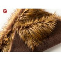 Wholesale Gold Raccoon Fluffy Faux Fur Fabric , Soft Faux Fur Fabric For Collar 850 Gsm from china suppliers