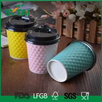 Wholesale Creative Embossing Logo Ripple Paper Cups , Hot Disposable Coffee Cups Customized design from china suppliers