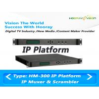 Wholesale Highly Integrated TV Scrambler Web Managerment With IP Input / Output from china suppliers